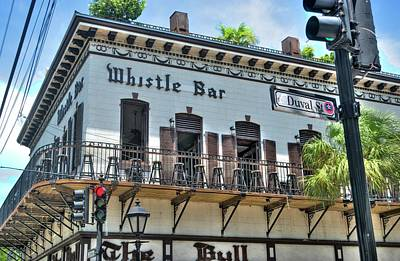 Photograph - The Whistle Bar On Duval Street - Key West, Florida by Timothy Lowry