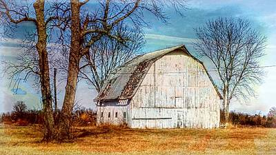 The White Barn Art Print
