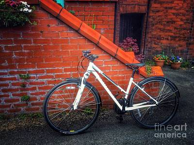 Photograph - The White Bicycle 2 by Joan-Violet Stretch