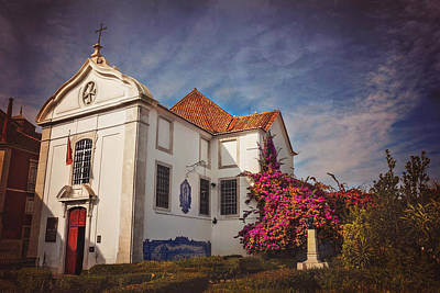 Red Roof Photograph - The White Church Of Santa Luzia by Carol Japp
