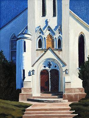 Painting - The White Church by Phil Chadwick