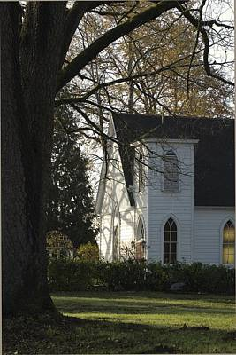 Photograph - The White Church by Sara Stevenson