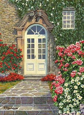 The White Door Print by Richard De Wolfe