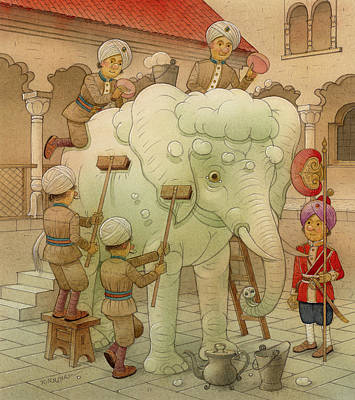 The White Elephant 02 Original by Kestutis Kasparavicius