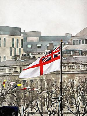 Photograph - The White Ensign Flying On Hms Belfast by Dorothy Berry-Lound