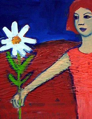 Painting - The White Flower by Winsome Gunning
