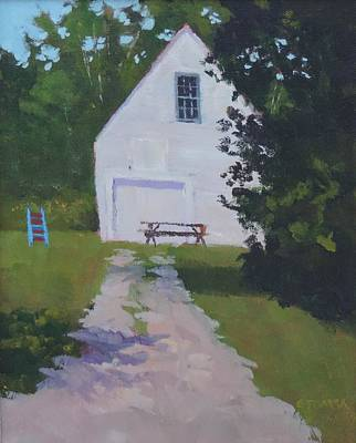 Photograph - The White Garage - Art By Bill Tomsa by Bill Tomsa
