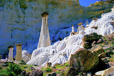 Photograph - The White Hoodoos by Frank Houck