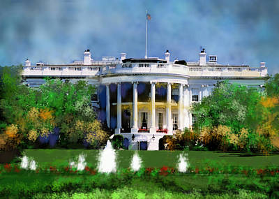 Digital Art - The White House by Carol Tsiatsios