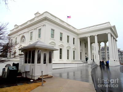 Digital Art - The White House by Ed Weidman
