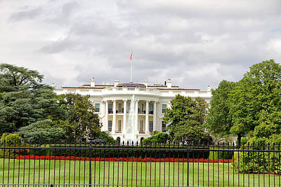 Photograph - The White House by Newman Artography