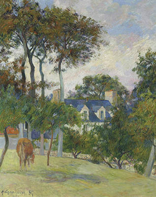 Painting - The White House  by Paul Gauguin