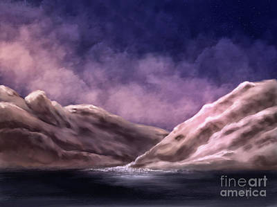 Digital Art - The White Mountains At Dawn by Lois Bryan