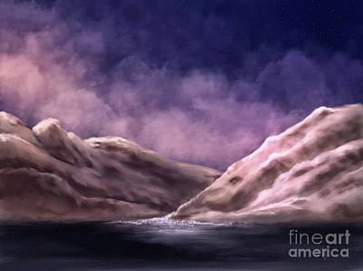 Digital Art - The White Mountains At Dawn by Lois Bryan
