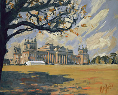 Painting - The White Party Tent Along Blenheim Palace by Nop Briex