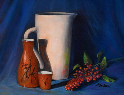 Painting - The White Pitcher by Anne Barberi