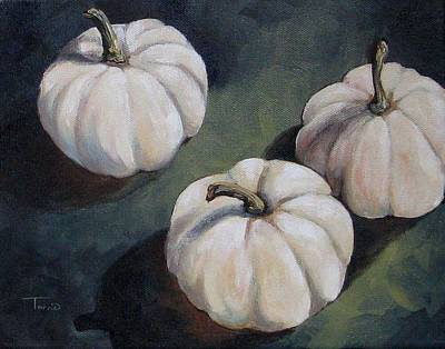 The White Pumpkins Art Print by Torrie Smiley