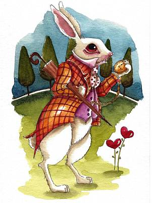 The White Rabbit Is Late Original by Lucia Stewart