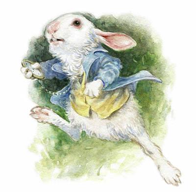Alice In Wonderland Painting - The White Rabbit by Janna Mattia