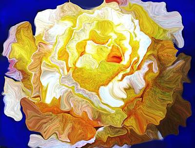 Representative Abstract Photograph - The White Rose by David Raderstorf