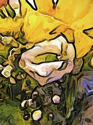 The White Rose With The Eye And Gold Petals Art Print