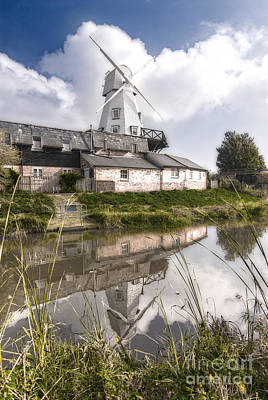 The White Smock Windmill Rye East Sussex Art Print by John Boud