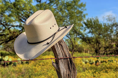 Photograph - The White Stetson by JC Findley