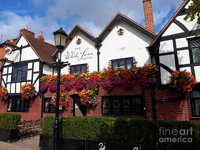Photograph - The White Swan Hotel In Stratford Upon Avon Warwickshire by Louise Heusinkveld