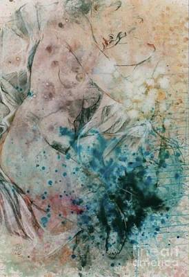 Body Painting - The White Veil Nude Painting by Rumyanka Bozhkova