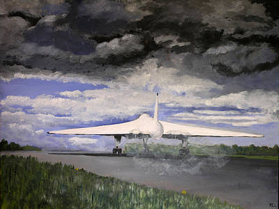 Vulcan Painting - The White Vulcan by Mike Lester