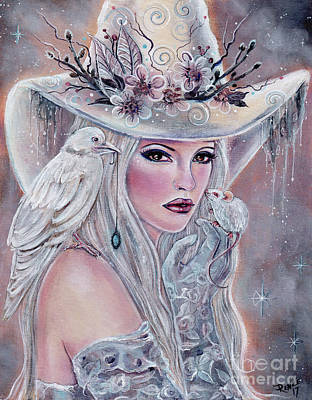 Painting - The White Witch by Renee Lavoie