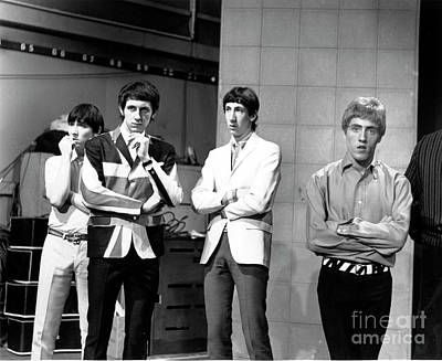 Print featuring the photograph The Who 1965 by Chris Walter