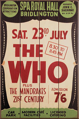 Keith Moon Photograph - The Who 1966 Tour Poster by Theresa Campbell