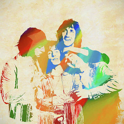 Music Paintings - The Who Color Blast by Dan Sproul