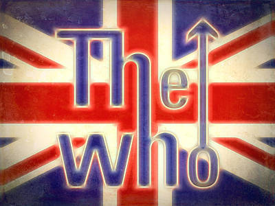Music Mixed Media - The Who Grunge Poster by Dan Sproul