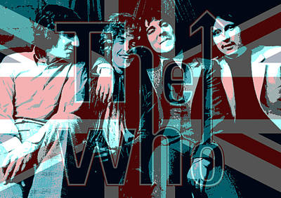 The Who Poster  Print by Enki Art