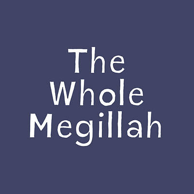 Digital Art - The Whole Megillah Navy And White- Art By Linda Woods by Linda Woods