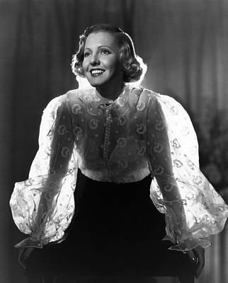 1930s Movies Photograph - The Whole Towns Talking, Jean Arthur by Everett