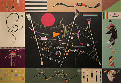 Curves Painting - The Whole by Wassily Kandinsky