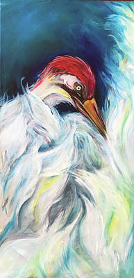 Painting - The Whooping Crane by Ashley Martinez