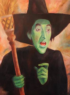 The Wicked Witch Of The West Print by Caleb Thomas