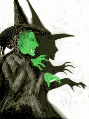 Scary Digital Art - The Wicked Witch by Russell Pierce