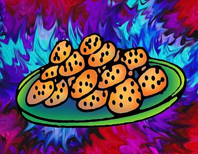 Painting - The Wicked Witch's Cookies by Angela Treat Lyon