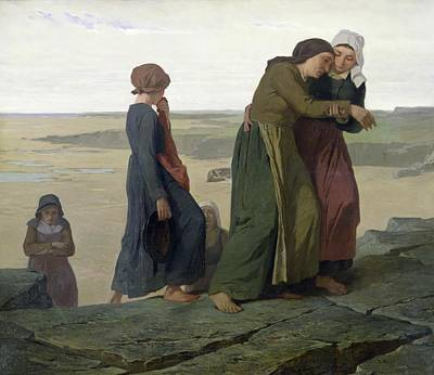 Crying Painting - The Widow by Evariste Vital Luminais