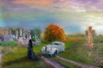 Digital Art - The Widow by Michael Cleere