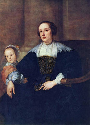 Digital Art - The Wife And Daughter Of Colyn De Nole  by Sir Antony van Dyck