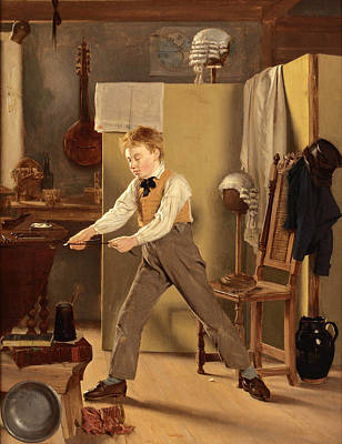 Good Practices Painting - The Wigmaker's Apprentice. Practice Makes Perfect by Thomas Sword Good