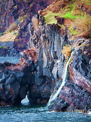 Photograph - The Wild Atlantic Cliffs Of Camara De Lobos On The Islandof Madeira by Brenda Kean