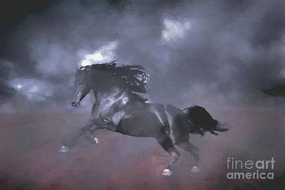 Black Butte Ranch Digital Art - The Wild Horse by Galambosi Tamas