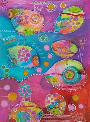 Mixed Media - The Wild Kingdom - Singing Joy by Barbara Orenya